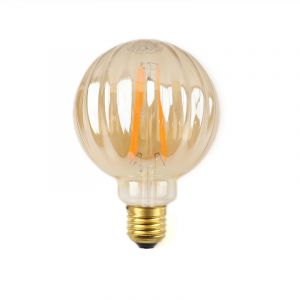Amberkleur E27 LED lamp Benja, G95, 2,5w, 2000K (extra sfeervol wit)