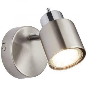 Moderne wandlamp Fenne, Nikkel, Chroom