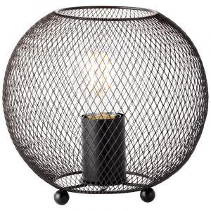 Industriële Tafellamp Kazimir, Metaal, met Aan/uit schakelaar op het snoer