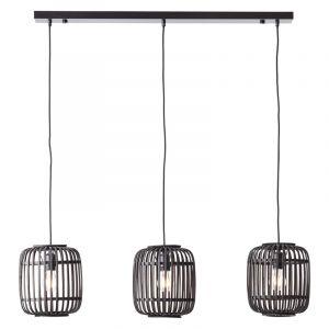 Moderne Hanglamp Brain, Zwart, hout