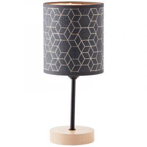 Moderne Tafellamp Bojana, Hout, met Aan/uit schakelaar op het snoer