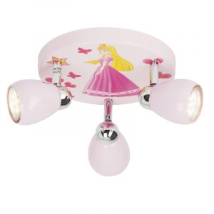 Roze kinderkamer plafondspot Rinze, Princes