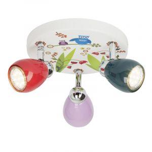 Kinder plafondlamp Bauke, Kleurige vogels
