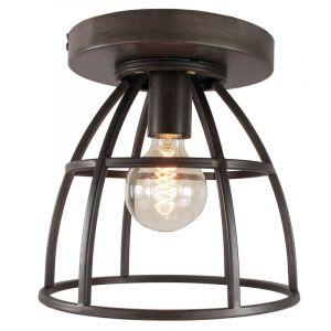 Industriële plafondlamp Esmee, Antiek Zwart