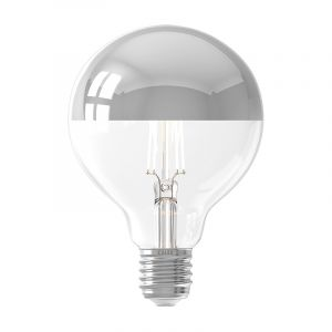 Dimbare Calex E27 kopspiegel LED lamp G95, 4w, 2200K