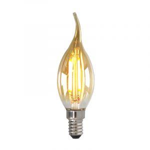 Dimbare E14 LED tipkaars, 3w, Amber glas, 2200k