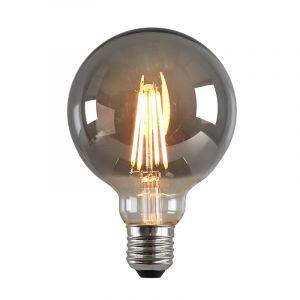 Dimbare E27 LED lamp, G95, 5w, Smoke glas, 2200k