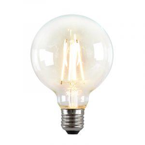 Dimbare E27 LED lamp, G95, 5w, Transparant glas, 2700k