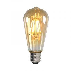 Dimbare E27 Edison LED lamp, ST58, 5w, Amber glas, 2200k