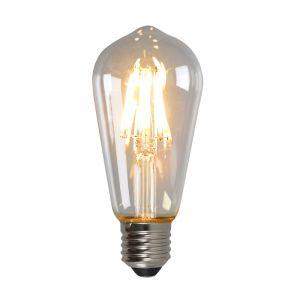Dimbare E27 Edison LED lamp, ST58, 5w, Transparant glas, 2700k