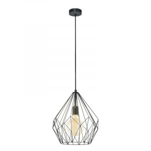 Zwarte gaas hanglamp Agliana