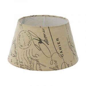Landelijke lampenkap Noah Textiel Bedrukt Wit/Bruin
