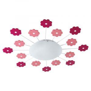 Olle plafondlamp voor kinderkamer leuke bloemetjes  roze