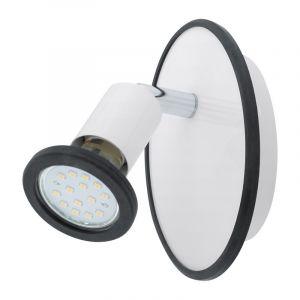 Stalen plafondlamp Ise wit chroom