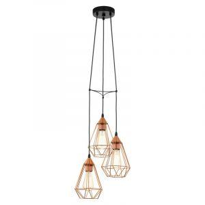 Koper hanglamp Costel Zwart snoer