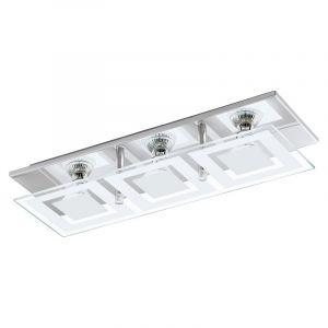 Moderne Glazen Chroom Witte wand/plafondlamp Desi