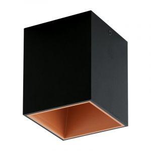 Moderne Zwarte Koper plafonniere Cora