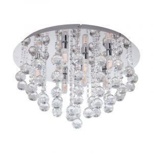 Stalen plafondlamp Nail chroom