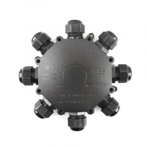 Waterdichte ronde 8-weg kabelkoppeling, met Wago plug binnenin, IP68