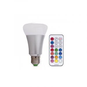 10W RGB LED lamp, E27 fitting, Met afstandsbediening