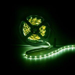 5m LED strip, groen, 12V, 60 leds p/m, 4,8W