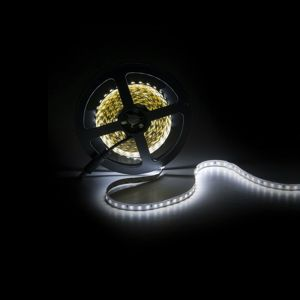 5m LED strip, Helder Wit, 12V, 120 leds p/m, 9,6W