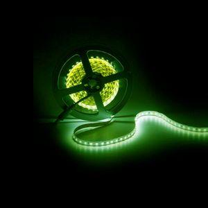 5m LED strip, groen, 12V, 120 leds p/m, 9,6W
