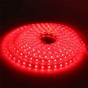 10 meter 220V LED strip, rood, IP67