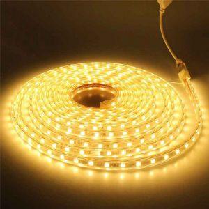 5 meter 220V LED strip, geel, IP67