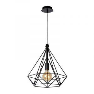 Ricky hanglamp, Zwart, stalen frame