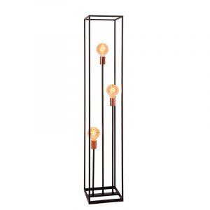Moderne vloerlamp Arthur, Zwart en Koper