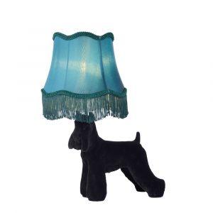 Zwarte Tafellamp Extravaganza Filou, kunststof