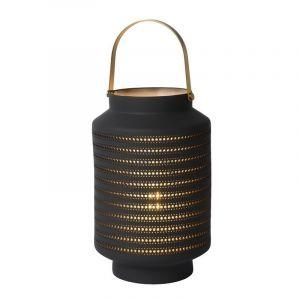 Landelijke tafellamp Jamila, Grijs