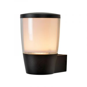 Zwarte wandlamp Ninke, Cilinder