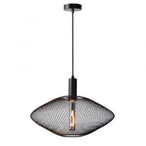 Zwarte hanglamp Mesh, metaal