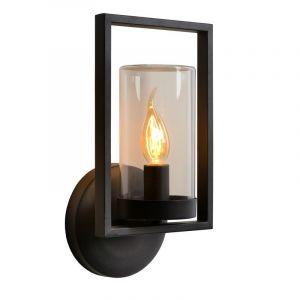 Zwarte wandlamp Nispen, Cilinder