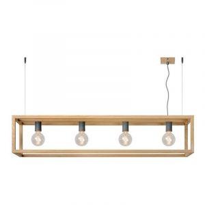 Metalen hanglamp Oris, Bruin