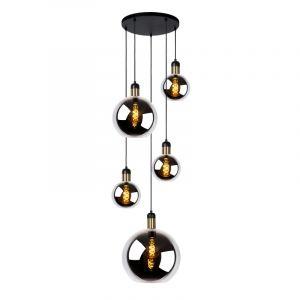 Grijze hanglamp Julius, glas