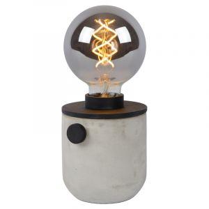 Zwarte Tafellamp Tanner, aluminium, met schakelaar