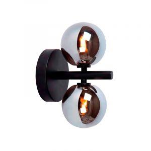 Retro wandlamp Tycho, Zwart