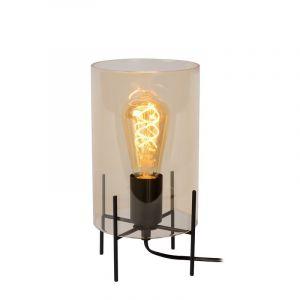 Moderne tafellamp Steffie, Oranje en Zwart