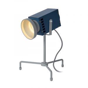 Gele Tafellamp Beamer, staal, met aan/uit schakelaar op het snoer