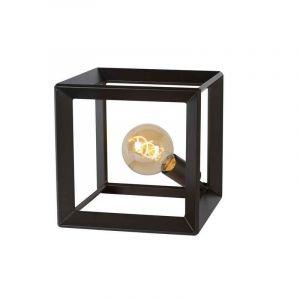 Grijze ijzer tafellamp Thor, Vierkant