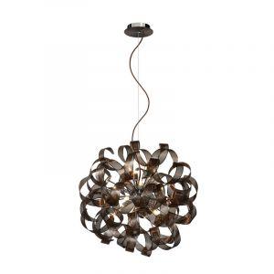 Moderne hanglamp Atoma, Roestbruin