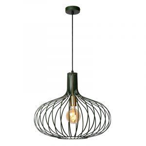 Groene hanglamp Manuela, metaal