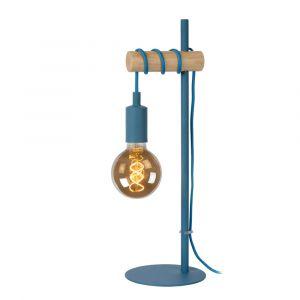 Blauwe Tafellamp Paulien, metaal