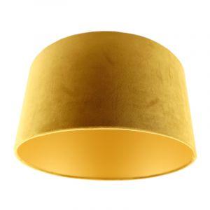 Okergele/gouden velours lampenkap Milene, 40 cm