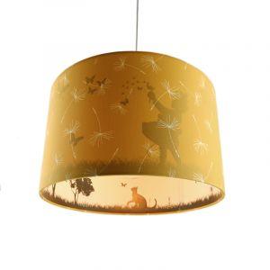Okergele kinderkamer hanglamp Vlinders