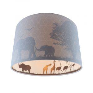 Blauwe dieren kinderkamer plafondlamp Safari, Binnenzijde doorschijnend