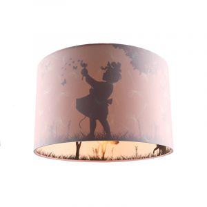 Roze meisjes kinderkamer plafondlamp Vlinders, binnenzijde doorschijnend